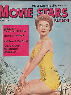 AUG 1952 MOVIE STARS PARADE vintage movie magazine JANET LEIGH