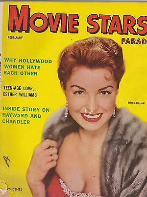 FEB 1954 MOVIE STARS PARADE vintage movie magazine ESTHER WILLIAMS