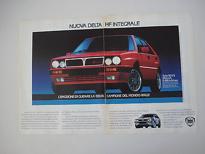 advertising Pubblicità 1988 LANCIA DELTA HF INTEGRALE