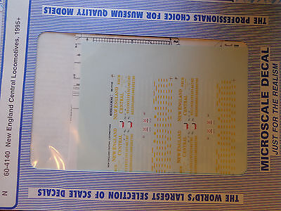Microscale Decal N  #60-4140 New England Central (NECR) Diesel - Includes Operat