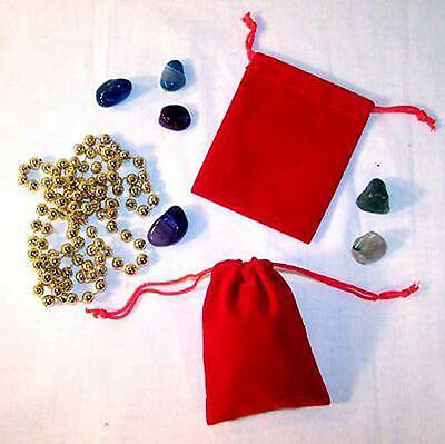 12 LARGE RED VELVET DRAWSTRING STORAGE JEWELRY BAGS soft bag coins rocks new