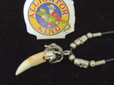 Alligator Tooth Necklace GT06 Swamp People Gator New Orleans Louisianna Cajun