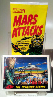Mars Attacks Topps Heritage Set Of 55 Cards & Wrapper
