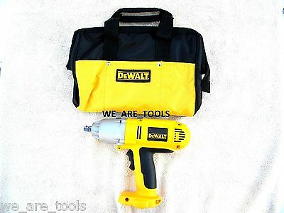 "New Dewalt DW059 18V Cordless Battery Impact Wrench 1/2"" & Tool Bag 18 Volt XRP"
