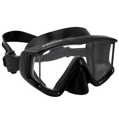 NEW Panoramic Tri-View Mask Scuba Dive Snorkeling Gear