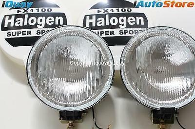 "New 7 Inch 100W Driving Lights 4WD Flood Spot Lamps Set 12V Halogen 7"" Round X2"
