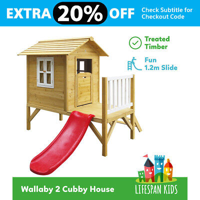 Lifespan New Outdoor Kids Wooden Toy Wallaby Cubby Play House