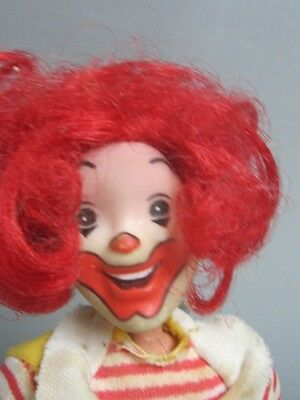 "Vintage 1976 Ronald McDonald Remco Doll Figure (8"") - w/Move-Able HEAD!!!"