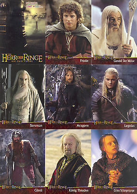 Lord Of The Rings The Two Towers Movie 2002 Topps Germany Base Card Set Of 90