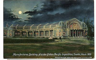1909 postcard-Manufactures Building, Alaska-Yukon-Pacific Exposition, Seattle