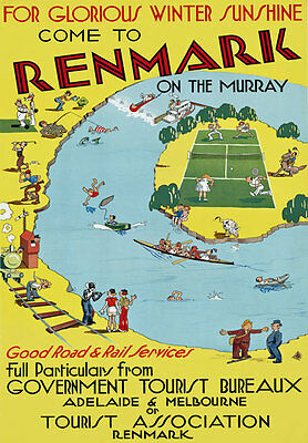 T56 Vintage Australia Renmark Travel Poster A1 A2 A3