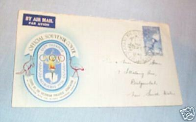 #20.  1956 Melbourne Olympic Envelope