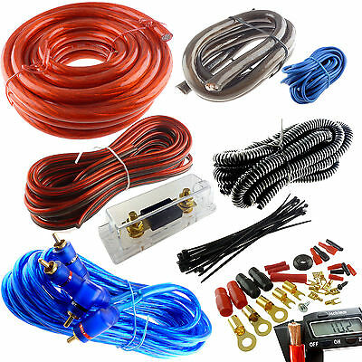 4 GAUGE PREMIUM POWER WIRE WIRING KIT 3000W ANL INSTALL CAR AMPLIFIER INSTALL
