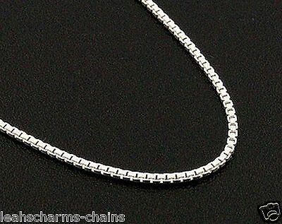 """1 Mm Box Chain Necklace 925 Sterling Silver 14"""" 16"""" 18"""" 20"""" 22"""" 24""""  30"""" Inch"""