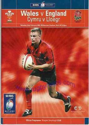 WALES v ENGLAND 2003 RUGBY PROGRAMME 22 Feb at CARDIFF GRAND SLAM SEASON ENGLAND