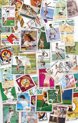 Terrific Collection Of Tennis Stamps - 50 Different!