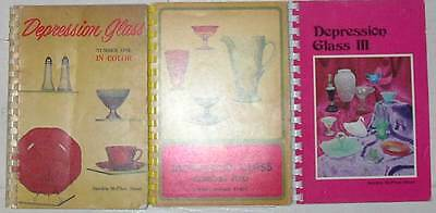 Sandra McPhee Stout, Depression Glass in Color, Bks no. 1, 2, 3, One Two Three