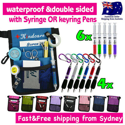 "Nurse Pouch ""Extra Pocket"" Quick Pick Nurses Bag wt Belt Syringe or Keyring Pen"