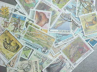 50 Different Botswana Stamp Collection - Lot