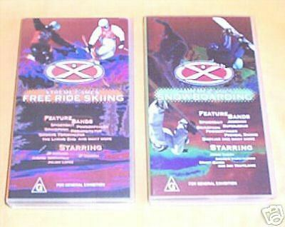 TWO  VHS VIDEOS - EXTREME SKIING and SNOWBOARDING