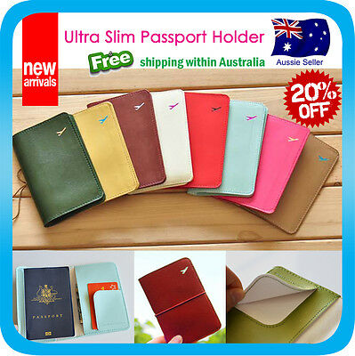 Passport Holder Case Travel Wallet Document Card Organizer Bag Slim