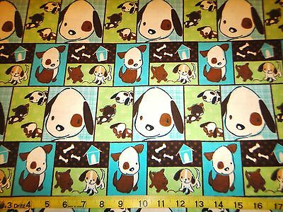 Naughty Puppies Patches Allover Cotton Flannel Fabric Camelot Fabric Red