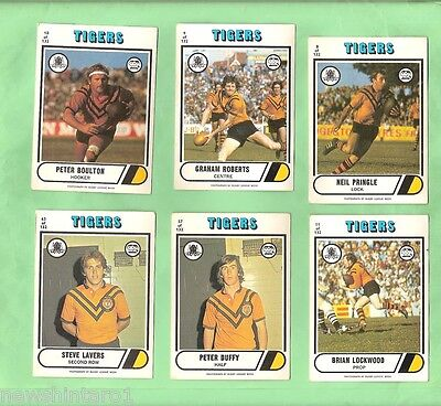 1976 Scanlens Rugby League Cards - Balmain Tigers
