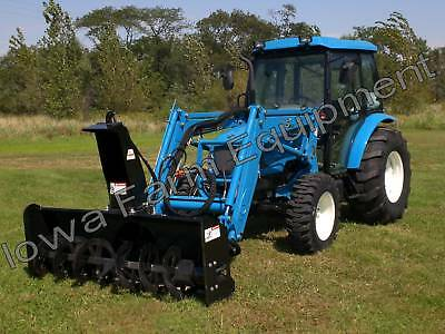 """IFE Tractor Loader Mounted 84"""" Skid Steer Snow Blower w/PTO PP & Res:HOT SET-UP!"""