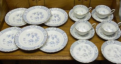 Luncheon Set - Tuscan Fine English Bone China England - Blue Bird Decoration