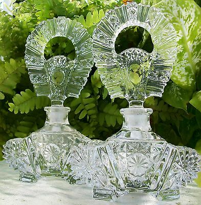 Matching Pair of Vintage Perfume Bottles~Mint ~6 Inches Tall~A Collector's Dream