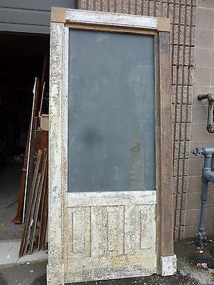 c1840 INTERIOR window frame molding REPURPOSED w/slate chalkboard 96.5 x 44.5""