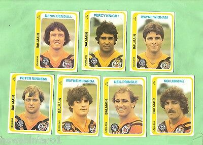 1979  Scanlens Rugby League Cards - Balmain Tigers