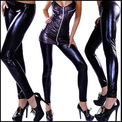 SEXY GLANZ LEGGINGS LAcK LATEX LOOK Celebrity STYLE XS