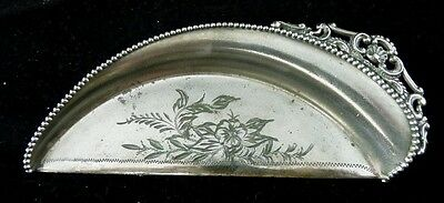 Beaded And Engraved Table Crumb Catcher By Warren Silver New York