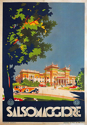 TV28 Vintage 1926 Italian Italy Salsomaggiore Parma Travel Poster Re-Print A4