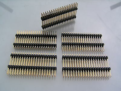 Pin Header Plug Double Insulator Strips 2.54mm 14way SIL 10 Pieces OM0980