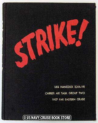 USS HANCOCK CVA-19 STRIKE FAR EASTERN  CRUISE BOOK 1957