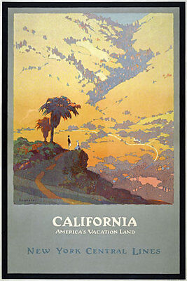 TX119 Vintage 1920's California America Travel Poster Re-Print A1/A2/A3
