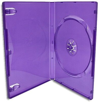 SINGLE-DISC 14mm =XBOX 360 KINECT PURPLE= Replacement Game Case 10-Pak