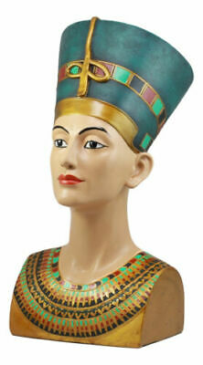 "Large Ancient Egyptian Queen Nefertiti Bust Statue 18""H Classical Egypt Decor"