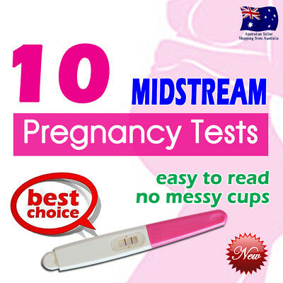 10x Midstream Pregnancy Tests Sensitive Urine Strips HPT Kits Easy to Read