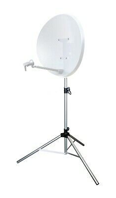 Satellite dish tripod stand camping caravan Sky Freeview mobile compact large