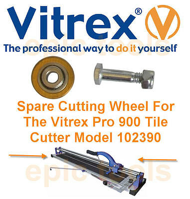 VITREX 102385 Spare Tile Cutter/Cutting Wheel For PRO 900mm & 630mm Tile Cutters