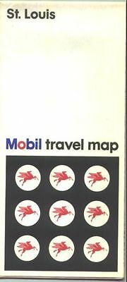 1968 Mobil St. Louis Vintage Road Map