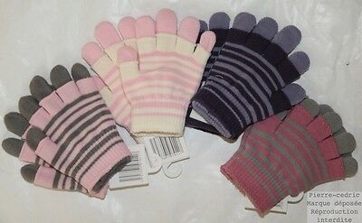 paire de gants fille MARESE wild blueberry taille 4 5 6 t5 8 10 ans neuf.