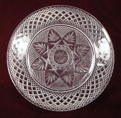 Antique Flowers Fans Stars Diamonds Plate EAPG Pattern Name Help AS IS (O)