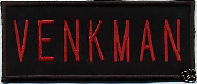 Ghostbusters 2 Style Name Tag Patch with a male/HOOK backing - VENKMAN