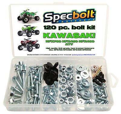 120pc Bolt Kit Kawasaki KFX450 KFX 450 400 700 ATV body plastic frame fender eng