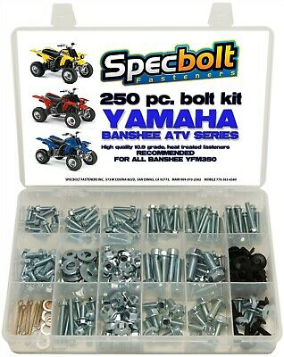 250pc Bolt kit Yamaha Banshee YFZ350 ATV body plastic fenders frame engine pipes