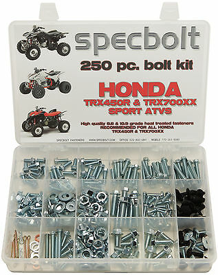 250pc Bolt kit Honda TRX450 ATV 700XX frame body plastics fender frame engine